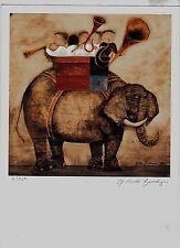 GRACIELA RODO BOULANGER U.N. WFUNA ART GRAPHIC - 1993 ( ENDANGERED SPECIES )