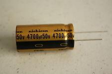 Nichicon 4700UF 50V KW Audio Grade HI-FI Capacitor - Radial Lead