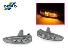 DEPO AMBER LED Clear Fender Side Markers For 07 08-14 Mitsubishi Lancer Evo 10 X