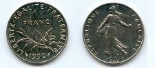 Gertbrolen*  1 Franc Semeuse Nickel 1990 Provient d' une série Fleur de Coin