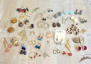 Mixed Jewelry Lot 39 Pairs Of Earrings