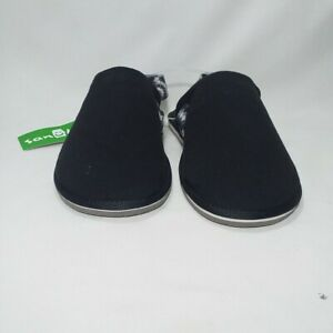 SANUK SLIP ON SHOES ORIGINAL IMPORTED FROM U.S.A. BLACK CANVASS