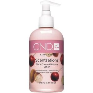 CND Hand and Body Scentsations - BLACK CHERRY AND NUTMEG Lotion 245ml Bottle