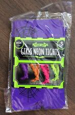 Girls Purple Spiderweb Tights Age 4-6 Years New