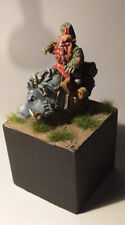 RARE Dwarf Hero on boar - resin -  scale 30 mm - masterfully painted