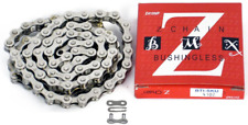 """Silver Bicycle Chain 1-Speed Nickel Plated 1/2 x 1/8"""" 112L Bike Chains Sports"""