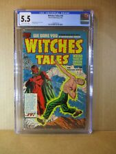Witches Tales 10 CGC 5.5 RARE ELIAS SATAN C. 1952 Powell Art Harvey Horror Comic