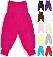 Girls Harem Pants Ali Baba Baggy Pants Dance Ages 2 3 4 5 6 7 8 9 10 11 12 13 Y