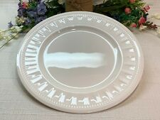"""Wedgwood COLOSSEUM 10-3/4"""" White Dinner Plate,England, MINT Condition."""