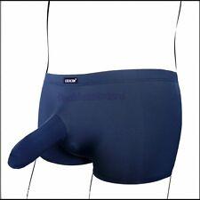 Men's Comfotable Penis Sleeve Boxer Briefs/Trunks Ice-Silky Underwear M/L/XL 1pc
