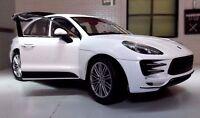 G LGB 1:24 Maßstab weiß Porsche Macan 3.0 V6 2014 Welly Druckguss Modell Auto