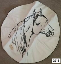 "27"" Horse Spare Tire Cover Rv Camper Trailer Jeep Toyota Ford Dodge Chevy Ram"