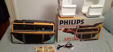 PHILIPS MOVING SOUND BOOMBOX RADIO CASSETTE PLAYER  D-8304 GHETTOBLASTER 1985