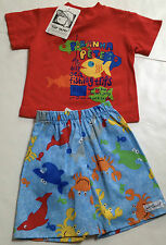 New Flap Happy Boys Short Set Size 12 months~Summer Sea Life~New Tags