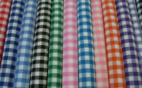 "1"" GINGHAM CHECK POLYCOTTON  FABRIC per metre Poly cotton"