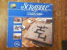 1987 Scrabble Deluxe Edition Rotating Turntable Crossword Game Board