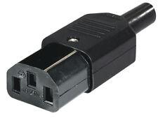 10x Strom Netzstecker Kaltgerätekupplung IEC 320 C13 schraubbar schwarz
