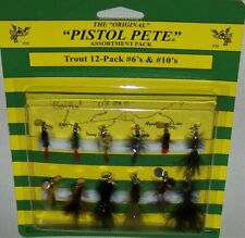 Pistol Pete, High Country Trout Flies, 12 P 00004000 Ack Assortment, Sizes #6 And #10