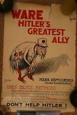 More details for vintage ware hitler's greatest ally industrial poster ministry of labour origina