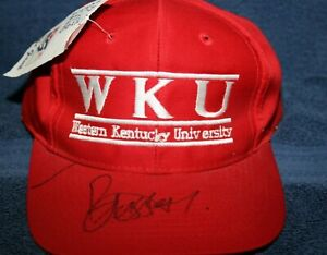 CHARLES BASSEY AUTOGRAPHED HAT WESTERN KENTUCKY HILLTOPPERS ONE SIZE FITS ALL