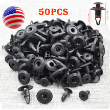 50x Black Plastic Rivet Fastener 8mm for Mazda NA01-56-145 Nissan 63844-01A00