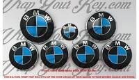 Azul y Negro M SPORT Emblema Insignia Revestido para BMW Capucha Tronco Llantas