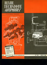 (C15) REVUE TECHNIQUE AUTOMOBILE RENAULT 10 /FIAT 500 / Overdrive De Normanville