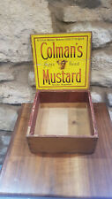 More details for vintage colman's mustard wood advertising box. original with labels