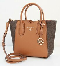 Michael Kors Bag Mea Messenger Braun Acorn Signature New
