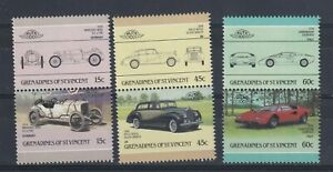 GRENADINES OF ST VINCENT 1986 AUTOMOBILES IN PAIRS VARIOUS CARS ROLLS MERC MNH