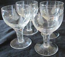 "FOUR (4) VINTAGE STUART ENGLAND LEAD CRYSTAL ""WOODCHESTER"" PORT GLASSES"
