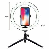 LED luz de relleno para Selfie Anillo de 10 Pulgadas//26CM Lámpara de anillo de cámara de teléfono Regulable Con