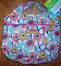 NWT Lily Bloom RETRO BLOSSOM FUNKY FLOWERS Insulated Lunch Tote Bag CINCH TOP