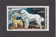 Rare Art Body Postage Stamp Great Pyrenees Pyrenean Shepherd Dog Monaco 1977 Mnh