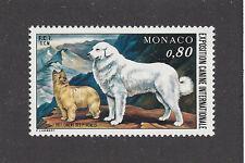 Rare Art Body Postage Stamp Great Pyrenees Pyrenean Shepherd Dog Monaco 1977 Mnh