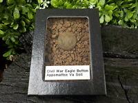 Old Rare Vintage Civil War Eagle Button in Appomattox VA Confederate Camp Soil