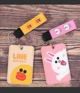 ID Bus Card Pass Holder Keyring Key Chain with hand strip