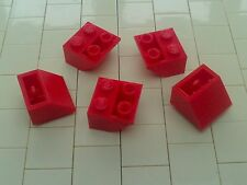 NEW LEGO - 10 x RED 2x2 INVERTED SLOPE BRICK 45 3660 - TOWN CITY -