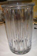 "Large Shannon Crystal Vase Designs of Ireland Piedmont 12"" Tall Hurricane Vase"