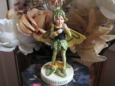 RETIRED! Cicely Mary Barker BOX TREE  Flower FAIRY Figurine On Base NEW #88916