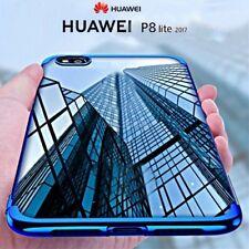 COVER per Huawei P8 Lite 2017 CUSTODIA ORIGINALE ELECTROPLATING Slim Morbida TPU
