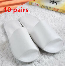 10pair/lot Breathable Disposable Slippers Hotel Slippers SPA Slippers White
