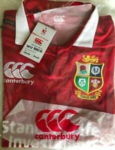 "British & Irish Lions 2017 Match Day Pro S/S Rugby Shirt NEW Size Small 37""-39"""