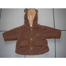 Manteau marron clair taille : 3 Mois avec capuche oreille marque : Mini Tribu