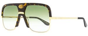 Gucci Navigator Sunglasses GG0478S 002 Gold/Havana 59mm 478