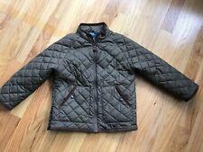 Polo Ralph Lauren Boys 4 4T Green Quilted Barn Jacket Coat Zip Suede