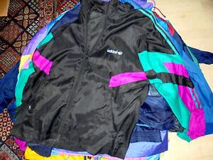 vintage 12x Nylon Regenjacke Adidas Jacken neon Schlupfjacke glanz anorak S-L
