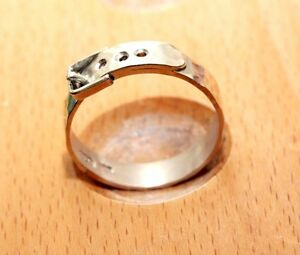 UK Hand made forged  sterling silver belt ring, 3.25 grams, size S