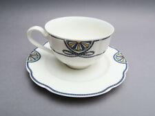 Rosenthal Pearl China Grace Society blaues Kordel Teetasse & Untertasse 2 tlg