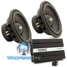 "pkg (2) SUNDOWN AUDIO E12 V3 D4 12"" 500W SUBWOOFERS + SAE-1000D V2 AMPLIFIER NEW"